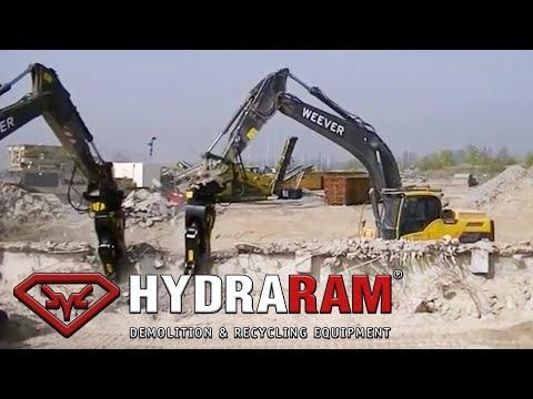 Hydraram HRP-28V Pulverizer @ demolition site
