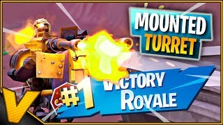 VINDER FØRSTE GAME M. MOUNTED TURRET! *FOOD FIGHT* :: Dansk Fortnite