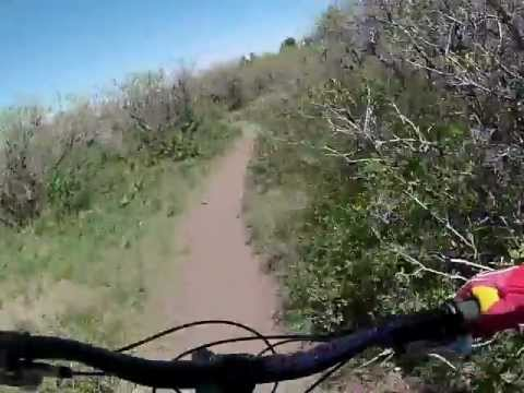 Mountain Bike Helmet Cam of Moab Hazard County Trail