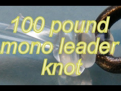 Best Fishing Knot For Heavy Mono Leaders Youtube