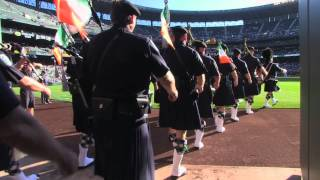 Seattle & Boston Police Pipes & Drums at Mariners Game