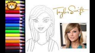 Como Dibujar y Colorear a Taylor Swift - Draw and Coloring Book for Kids