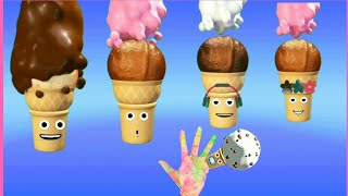 Ice Cream Fingers Family Song For kids  and more learning songs.