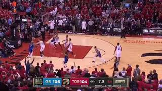 Andre Igoudala 3 point dagger Raptors vs Warriors NBA FINALS
