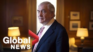 Conrad Black says he's 'exonerated' in first TV interview since Trump pardon