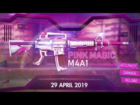 Novo Arma Royale da M4A1 - Magia Rosa