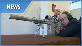 Putin fires new Kalashnikov SVCh-308 sniper rifle prototype