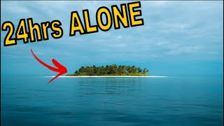 Surviving 24hrs Solo On A Deserted Tropical Island Beach - Making Fire - Cooking In A Coconut - ASMR