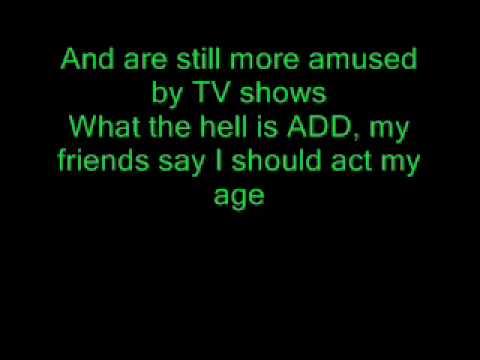 Blink 182 Whats my age again (lyrics)