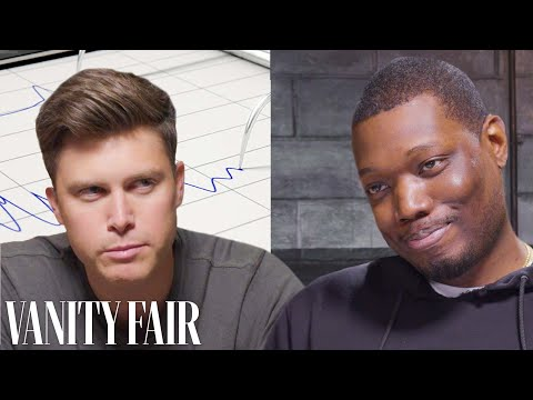 SNL's Colin Jost and Michael Che Take a Lie Detector Test   Vanity Fair