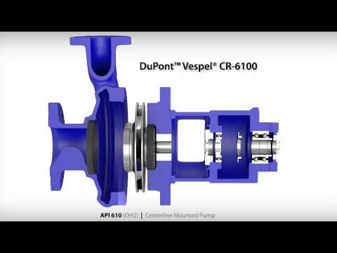 DuPont™ Vespel® CR-6100 Wear Rings in API 610 (OH2) Centerline Mounted Pump