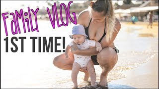 Baby`s First Time at the Beach! | Vegan Family Vlog