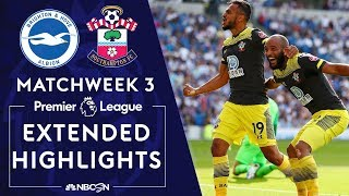 Brighton v. Southampton | PREMIER LEAGUE HIGHLIGHTS | 8/24/19 | NBC Sports