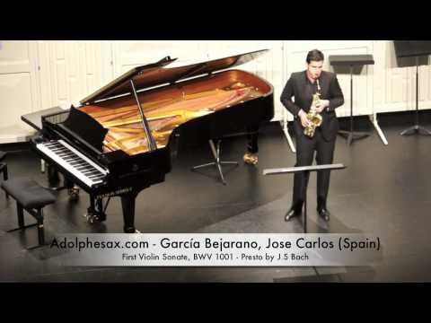 Garcia Bejarano, JOse Carlos First Violin Sonate, BWV 1001 Presto by J S Bach