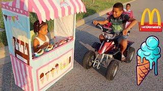 FamousTubeKIDS Best Drive Thru Moments | McDonald's, Ice Cream, Slime
