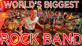 WORLD RECORD BIGGEST ROCK BAND! (I played drums with 1000+ Musicians)!  Rockin 1000!