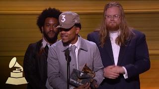 Chance the Rapper Wins Best New Artist | Acceptance Speech | 59th GRAMMYs