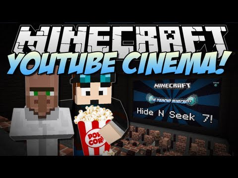 Baixar Minecraft | YOUTUBE CINEMA! (Web Displays Mod!) | Mod Showcase [1.6.4]