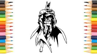 Batman Coloring Pages For Kids, Children, Babies & Toddlers | Colors kids