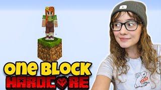 Minecraft Skyblock One Block, but its HARDCORE