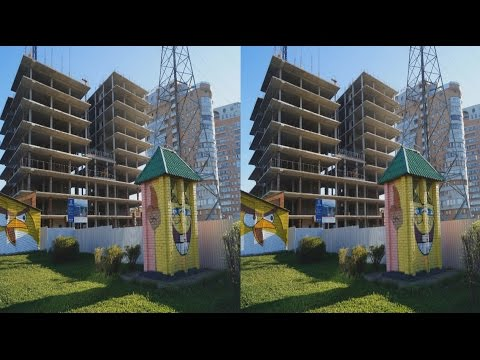 A walk in the Morning the City 3D ( PART 1 ) ! Relaxation ! 3D VIDEO