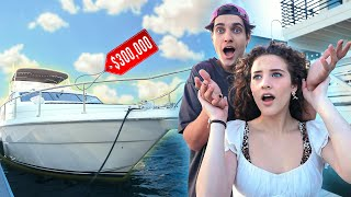 HE SURPRISED ME WITH A YACHT!!!