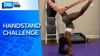 Simone Biles Takes Handstand Challenge To New Level