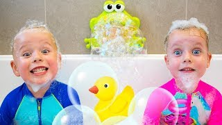 Bath Song +More Nursery Rhymes Kids Songs by Gaby and Alex - YouTube
