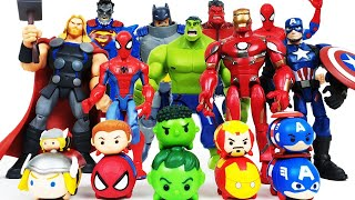 Avengers Assemble! Iron Man, Hulk, Thor, Spider-Man, Captain America, Batman, Superman