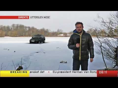 Car Goes Through Ice On Live Tv