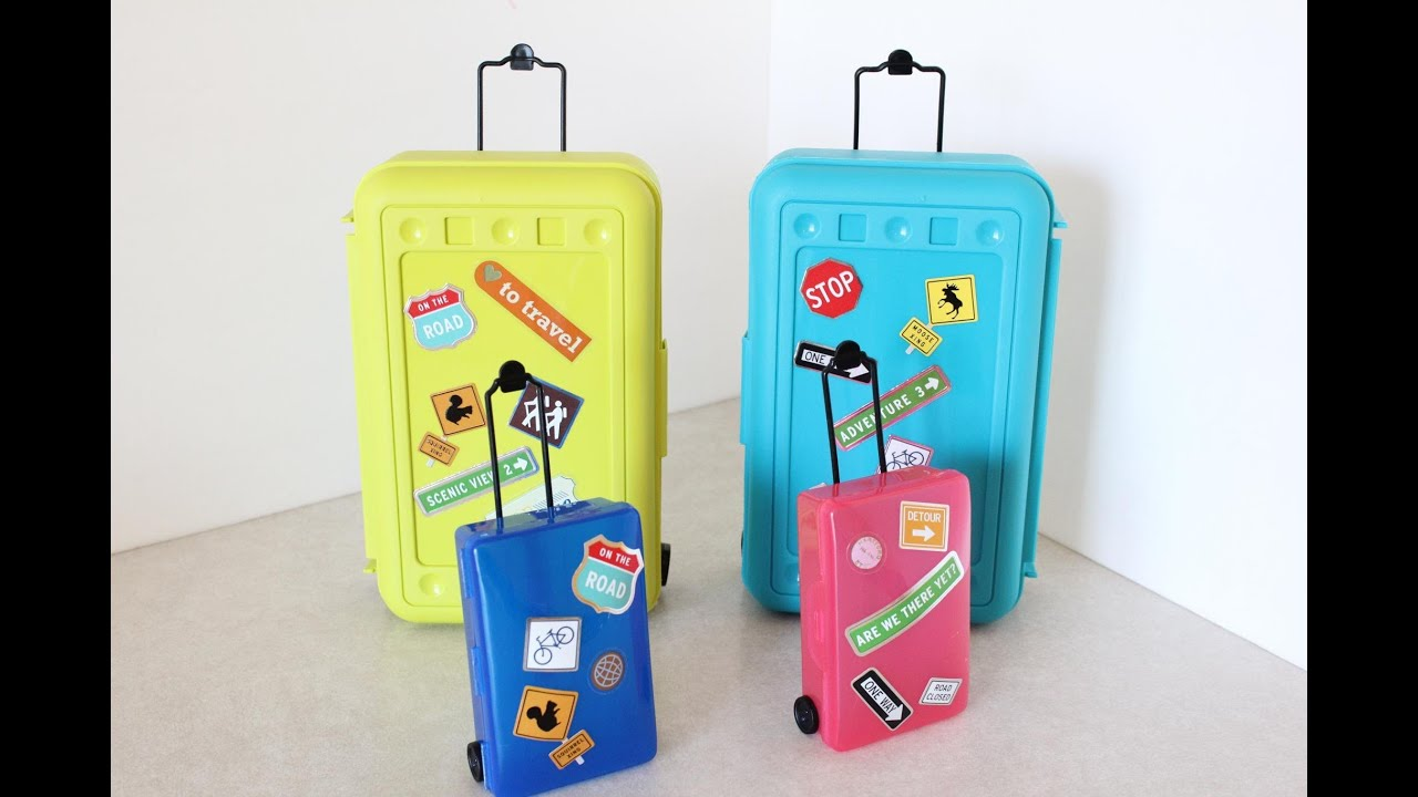How To Make Doll Luggage Suitcase Plus Darbie Show