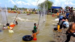 Amazing Khmer Real Life Fishing At Banteay Meanchey In Cambodia