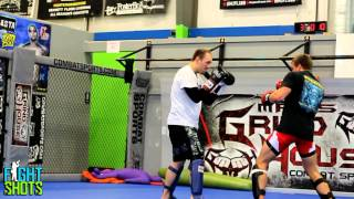 Zak Cummings sparring at Grindhouse MMA