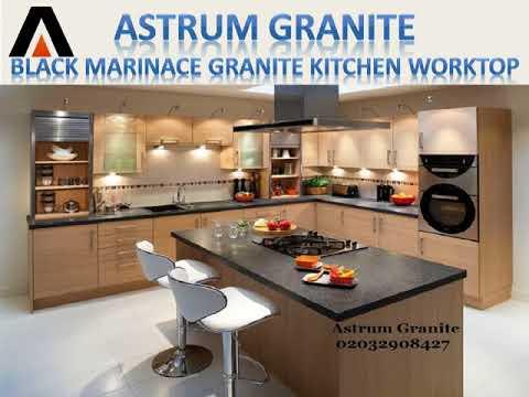 Best Black Marinace Granite Kitchen Worktop in London - Astrum Granite