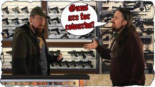 A Sword Nerd Walks Into a Gun Shop... (Satire)