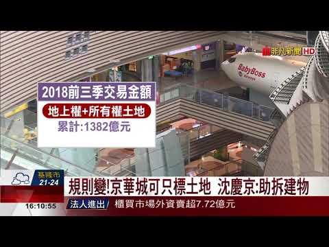 【非凡新聞】規則變!京華城可只標土地 沈慶京:助拆建物