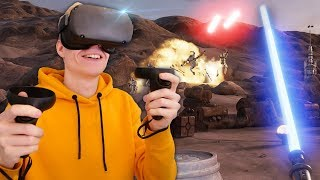 BECOME A JEDI IN VIRTUAL REALITY! | Star Wars: VR Experience (Oculus Quest Gameplay)