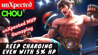 Keep Charging Even With 5% HP [Chou unXpected] | unXpected Chou Mobile Legends