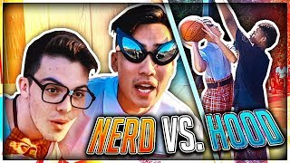 Nerd Plays Basketball In The HOOD !