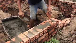 Kỹ thuật chét xi gạch xây móng nhà cấp 4 ✌️️ Hai Nguyen