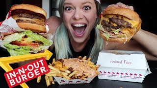 IN-N-OUT Secret Menu Review + Mukbang for National Cheeseburger Day!!!