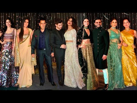Bollywood Celebs At Priyanka Nick WEDDING Reception Mumbai FullVideoHD-Salman,Dipika,Ranveer,Katrina