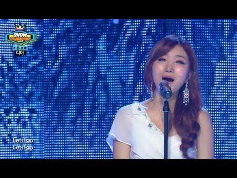 DIA - Let it go (Frozen OST) , 디아 - 렛잇고 (겨울왕국 OST), Show Champion 20140205
