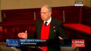 'NUCLEAR' Sen. Grassley Lashes out at FBI, DOJ in Fiery Senate Floor Speech