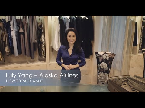 How to pack a business suit- Alaska Airlines Travel Tips