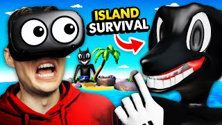 NEW Surviving On REMOTE ISLAND From CARTOON DOG In VR (Island Time VR Funny Gameplay)