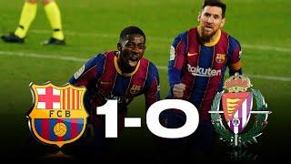 Barcelona vs Real Valladolid [1-0], La Liga 2020/21 - MATCH REVIEW