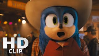 Sonic The Hedgehog Movie   Slow Motion Bar Fight Scene