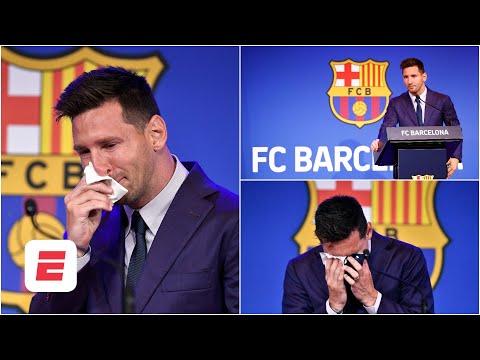 ROMPIÓ EN LLANTO. Lionel Messi se despidió del FC Barcelona con ganas de regresar | La Liga