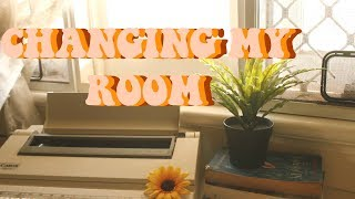 RE-ORGANIZING + DECORATING MY ROOM